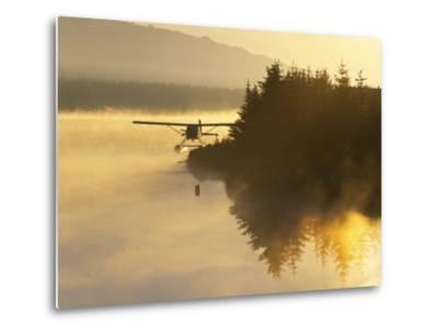 Float Plane on Beluga Lake at Dawn, Homer, Alaska, USA-Adam Jones-Metal Print