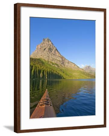Kayaking on Two Medicine Lake in Glacier National Park, Montana, USA-Chuck Haney-Framed Photographic Print