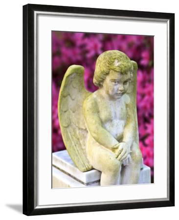 Statue of a Cherub in Bonaventure Cemetery, Savannah, Georgia, USA-Joanne Wells-Framed Photographic Print
