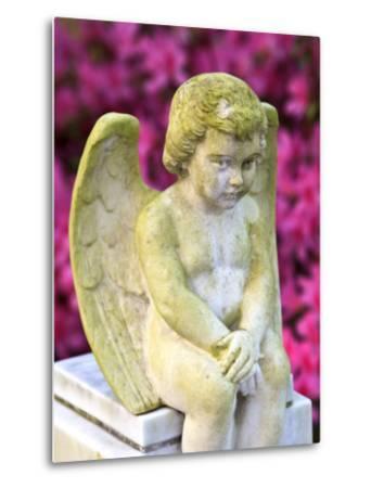 Statue of a Cherub in Bonaventure Cemetery, Savannah, Georgia, USA-Joanne Wells-Metal Print