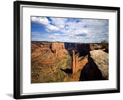 Spider Rock at Junction of Canyon De Chelly and Monument Valley, Canyon De Chelly Ntl Monument, AZ-Bernard Friel-Framed Photographic Print