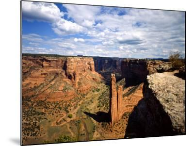 Spider Rock at Junction of Canyon De Chelly and Monument Valley, Canyon De Chelly Ntl Monument, AZ-Bernard Friel-Mounted Photographic Print