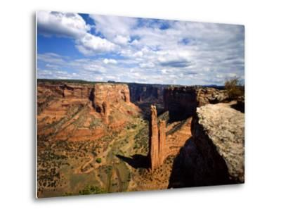 Spider Rock at Junction of Canyon De Chelly and Monument Valley, Canyon De Chelly Ntl Monument, AZ-Bernard Friel-Metal Print
