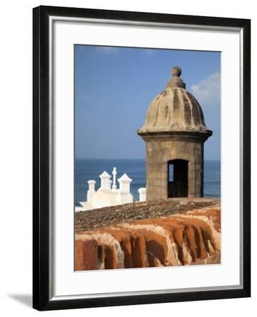 Lookout Tower at Fort San Cristobal, Old San Juan, Puerto Rico, Caribbean-Dennis Flaherty-Framed Photographic Print