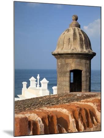Lookout Tower at Fort San Cristobal, Old San Juan, Puerto Rico, Caribbean-Dennis Flaherty-Mounted Photographic Print