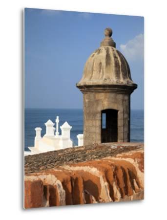 Lookout Tower at Fort San Cristobal, Old San Juan, Puerto Rico, Caribbean-Dennis Flaherty-Metal Print