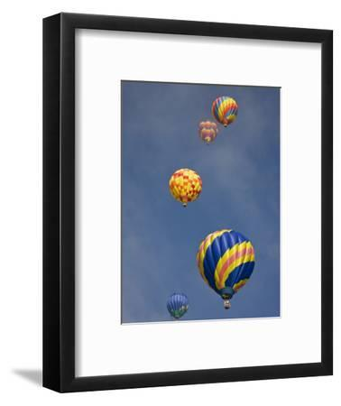 Colorful Hot Air Balloons Decorate the Morning Sky, Colorado Springs, Colorado, USA-Don Grall-Framed Photographic Print