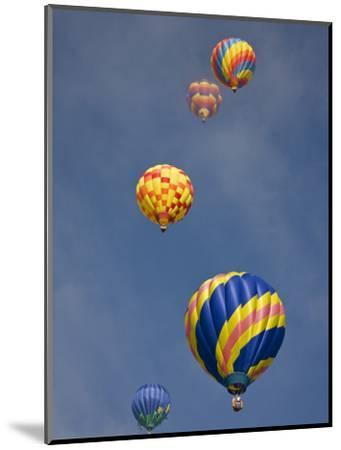 Colorful Hot Air Balloons Decorate the Morning Sky, Colorado Springs, Colorado, USA-Don Grall-Mounted Photographic Print