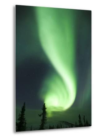 Aurora Borealis, Fairbanks, Alaska, USA-Julie Eggers-Metal Print