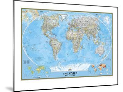 World Political Map-National Geographic Maps-Mounted Art Print