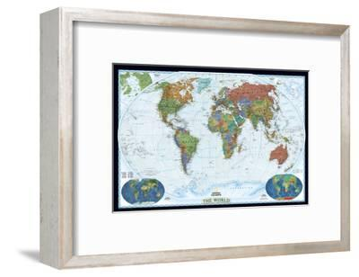 World Political Map, Decorator Style-National Geographic Maps-Framed Premium Giclee Print