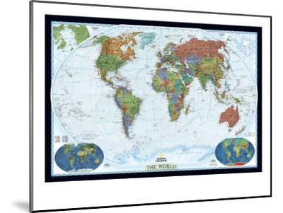 World Political Map, Decorator Style-National Geographic Maps-Mounted Premium Giclee Print