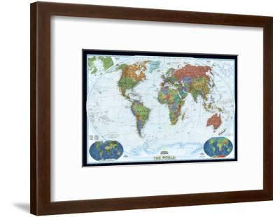 World Political Map, Decorator Style-National Geographic Maps-Framed Art Print
