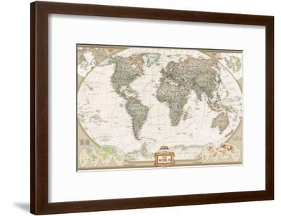 National Geographic World Political Map.World Political Map Executive Style Art Print By National