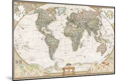 World Political Map, Executive Style-National Geographic Maps-Mounted Art Print