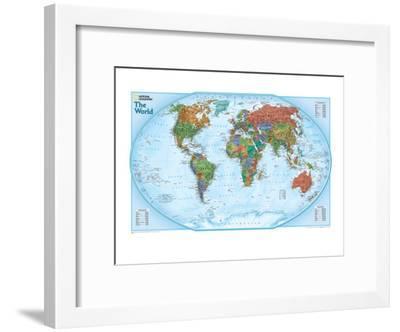 World Explorer Map-National Geographic Maps-Framed Art Print