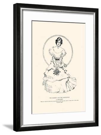 The Maiden And the Mistletoe-Charles Dana Gibson-Framed Art Print