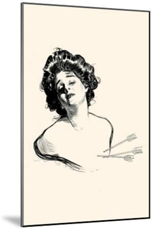 Pierced In the Heart-Charles Dana Gibson-Mounted Art Print