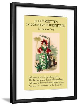 Elegy Written In a Country Churchyard--Framed Art Print