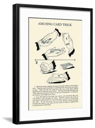 Amusing Card Trick--Framed Art Print