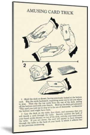 Amusing Card Trick--Mounted Art Print