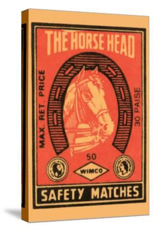 Horse Head Safety Matches--Stretched Canvas Print