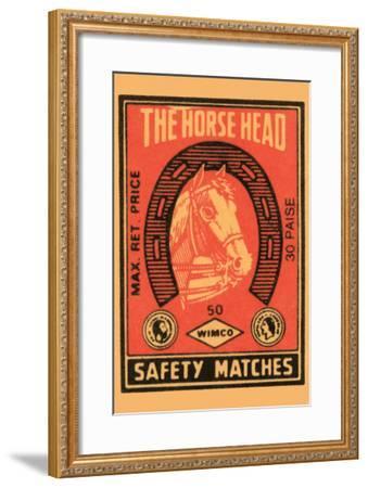 Horse Head Safety Matches--Framed Art Print