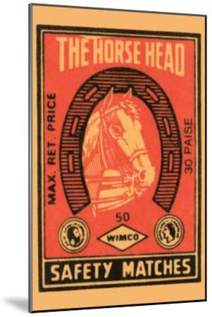Horse Head Safety Matches--Mounted Art Print