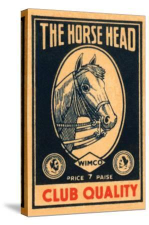 Horse Head Club Quality Matches--Stretched Canvas Print