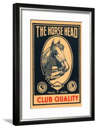 Horse Head Club Quality Matches--Framed Art Print