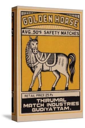Golden Horse Avg. 50's Safety Matches--Stretched Canvas Print