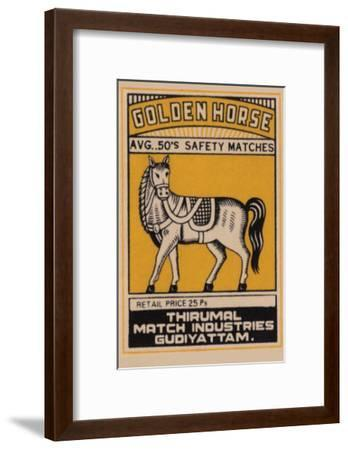Golden Horse Avg. 50's Safety Matches--Framed Art Print