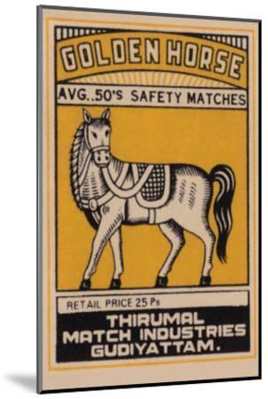 Golden Horse Avg. 50's Safety Matches--Mounted Art Print