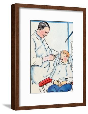 Dentist-Julia Letheld Hahn-Framed Art Print