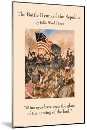 Battle Hymn of the Republic--Mounted Art Print