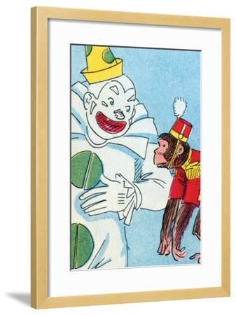 Clown & Monkey-Julia Letheld Hahn-Framed Art Print
