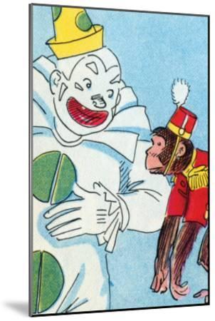 Clown & Monkey-Julia Letheld Hahn-Mounted Art Print