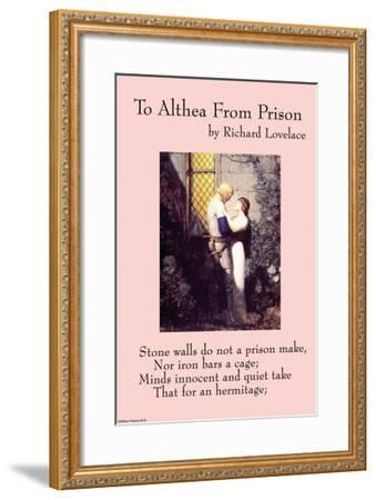 To Althea From Prison--Framed Art Print