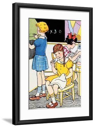 School Lessons-Julia Letheld Hahn-Framed Art Print