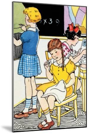 School Lessons-Julia Letheld Hahn-Mounted Art Print