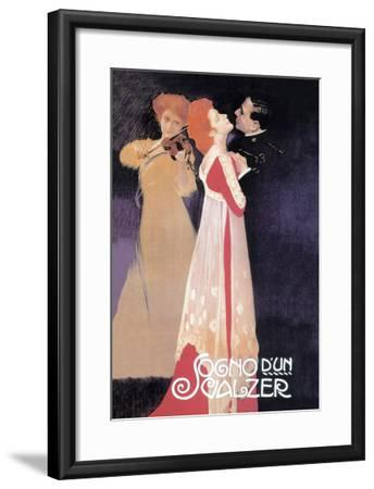 Dream of a Waltz-Leopoldo Metlicovitz-Framed Art Print