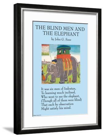 The Blind Men & the Elephant--Framed Art Print