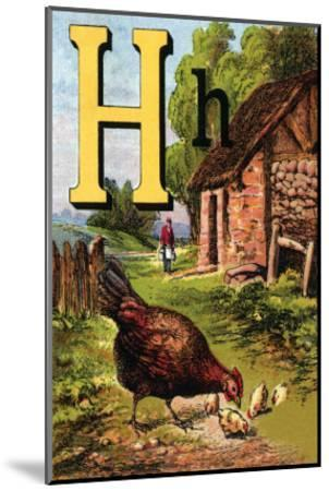 H For the Hen, of Her Chicks So Fond-Edmund Evans-Mounted Art Print