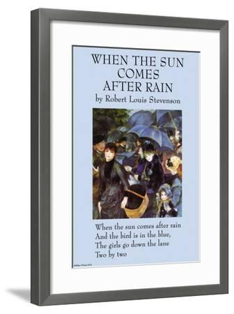 When the Sun Comes After the Rain--Framed Art Print
