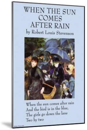 When the Sun Comes After the Rain--Mounted Art Print