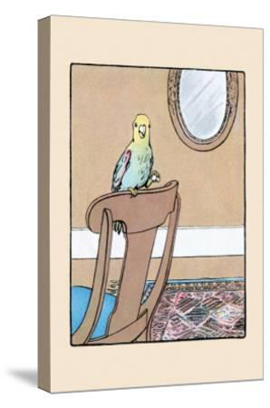 Polly Parrot on the Chair-Julia Dyar Hardy-Stretched Canvas Print