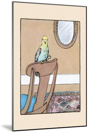 Polly Parrot on the Chair-Julia Dyar Hardy-Mounted Art Print