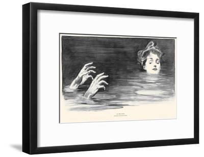In the Swim-Charles Dana Gibson-Framed Art Print