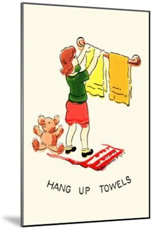 Hang Up Towels--Mounted Art Print