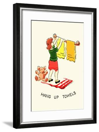 Hang Up Towels--Framed Art Print
